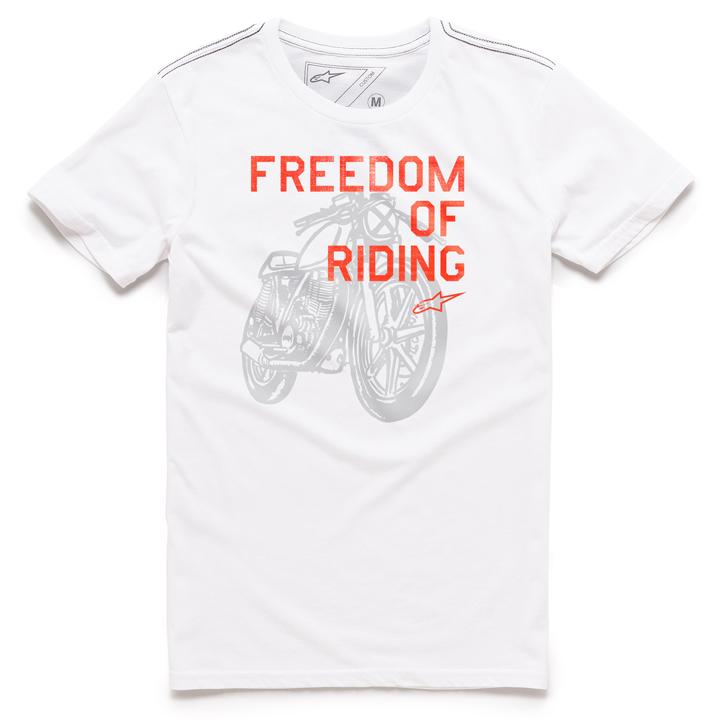 Camiseta Alpinestars Freedom Of White Lançamento  - Super Bike - Loja Oficial Alpinestars