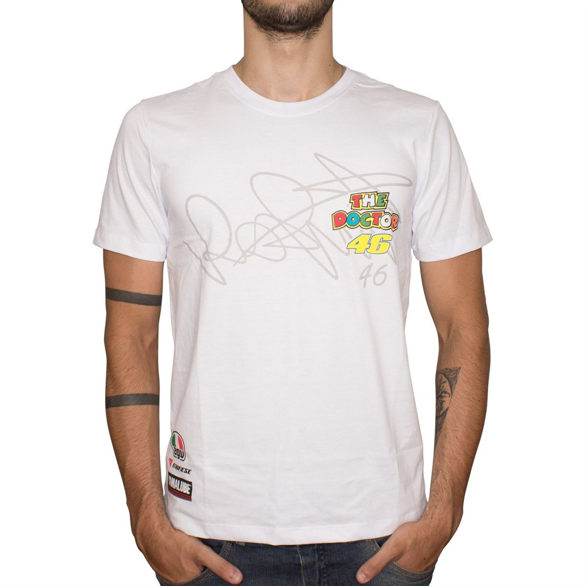 Camiseta Speed Race The Doctor 46 (Branca) Lançamento!!  - Super Bike - Loja Oficial Alpinestars