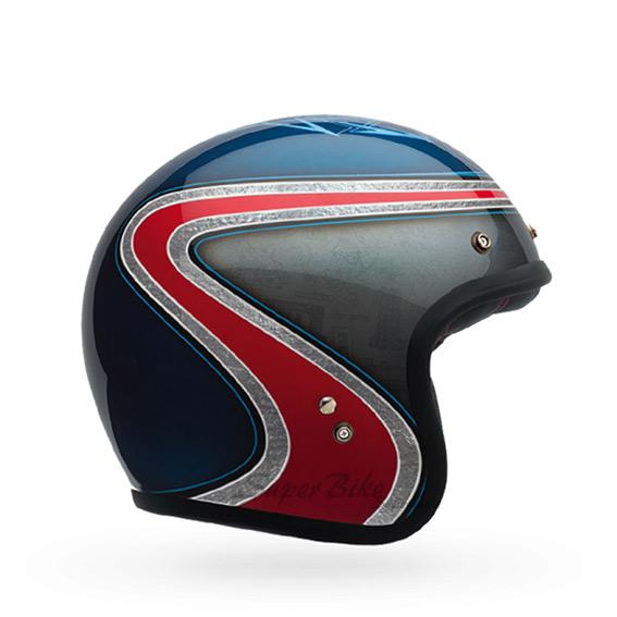 Capacete Bell Custom 500 Airtrix Heritage Blue Red Lançamento!!  - Super Bike - Loja Oficial Alpinestars