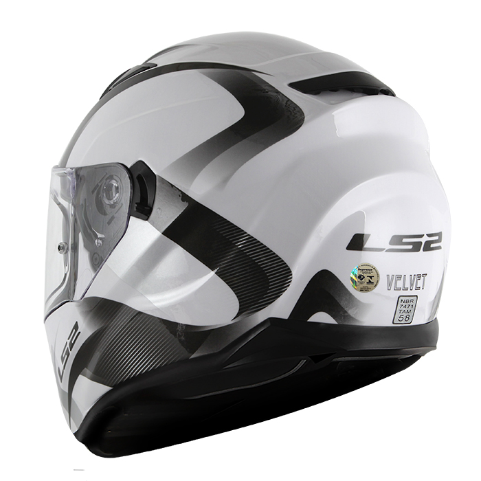 Capacete LS2 FF320 Stream Velvet Gloss White  - Super Bike - Loja Oficial Alpinestars