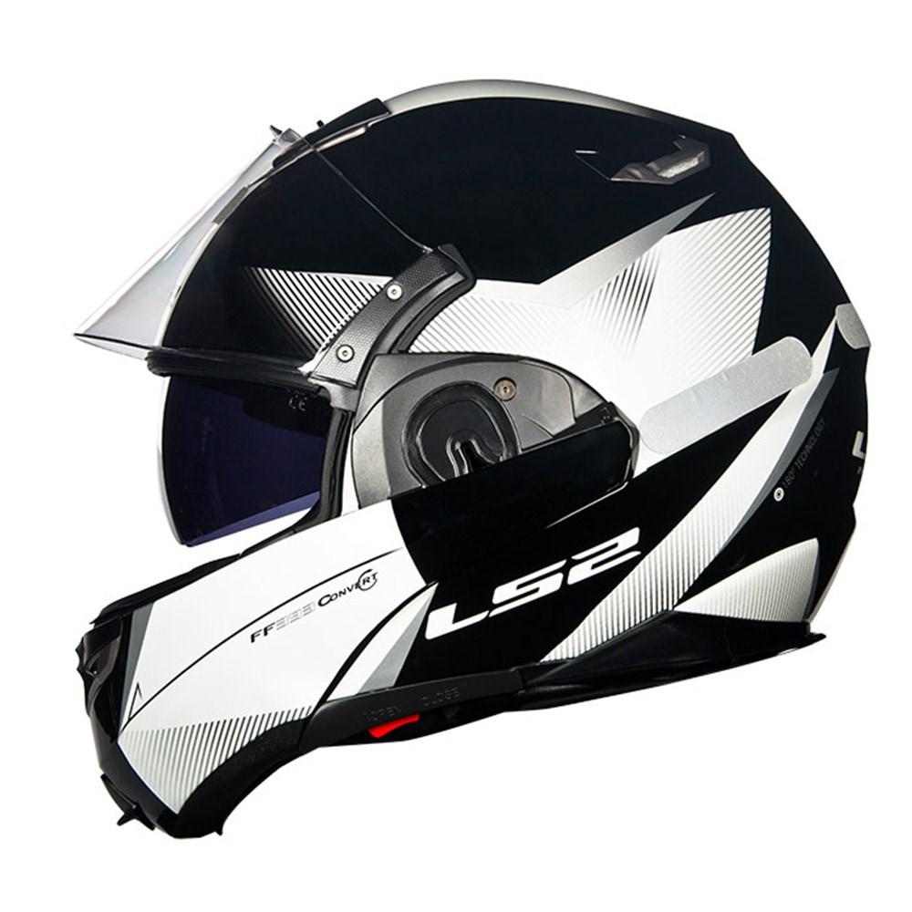Capacete LS2 FF393 Hawk Black/ White Escamoteável  - Super Bike - Loja Oficial Alpinestars