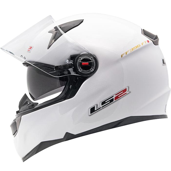 Capacete LS2 FF396 Monocolor White c/ óculos  - Super Bike - Loja Oficial Alpinestars