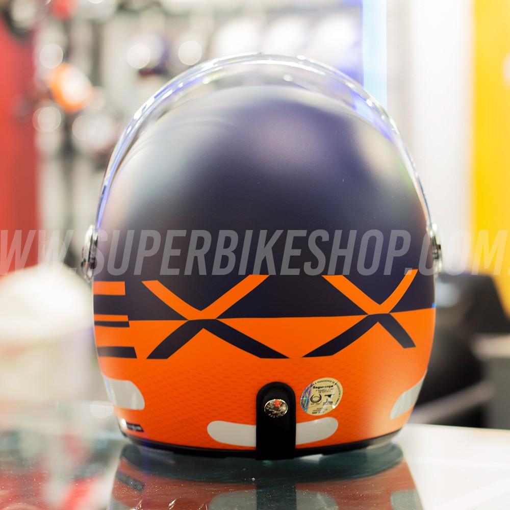 Capacete Nexx X70 City Azul/Laranja Fosco  - Super Bike - Loja Oficial Alpinestars