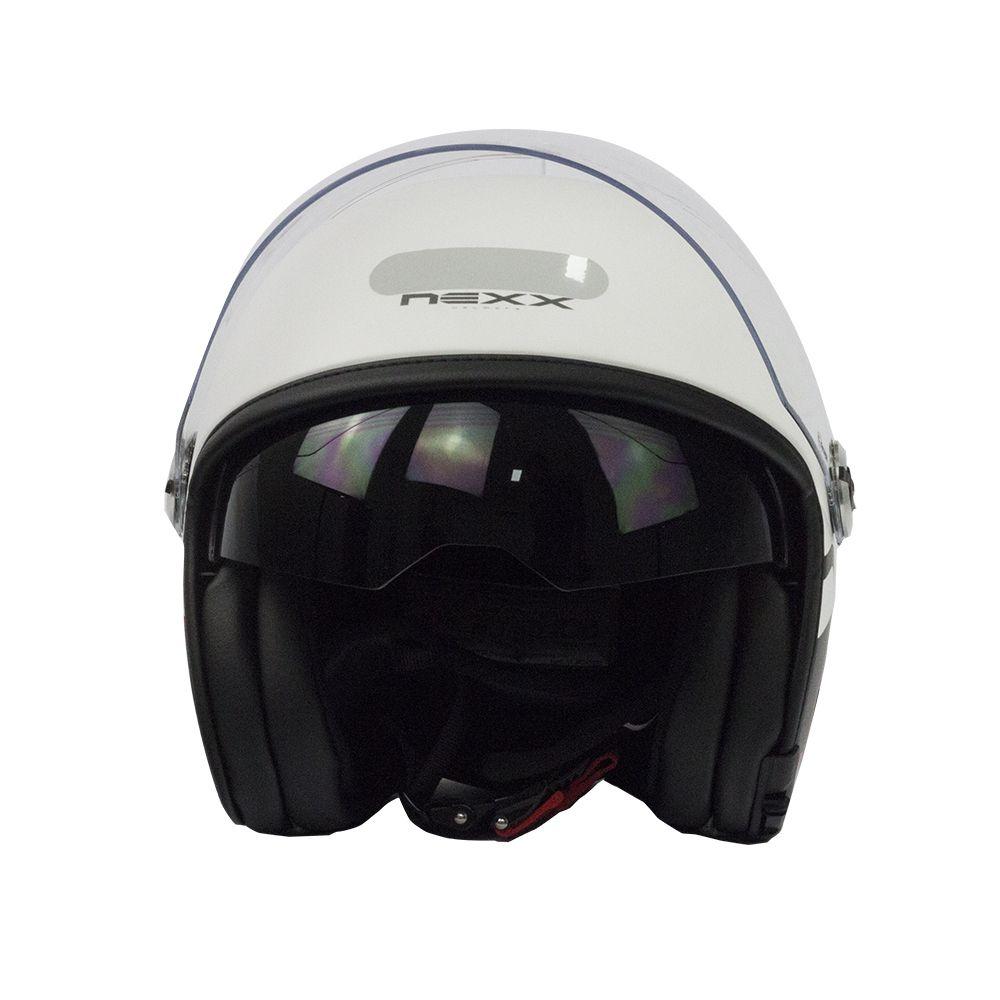 Capacete Nexx X70 City Branco/Preto Fosco  - Super Bike - Loja Oficial Alpinestars