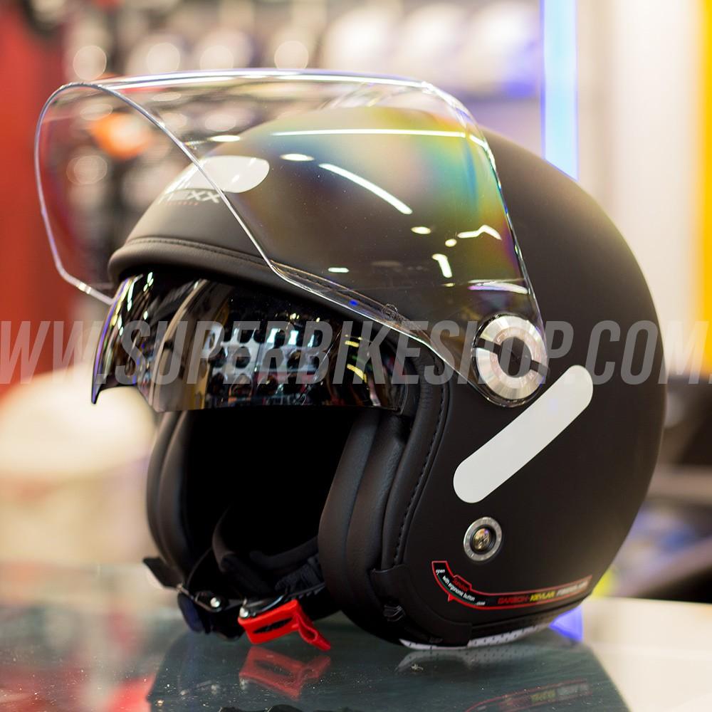 Capacete Nexx X70 City Preto Fosco Tri-composto c/ Viseira reta  - Super Bike - Loja Oficial Alpinestars