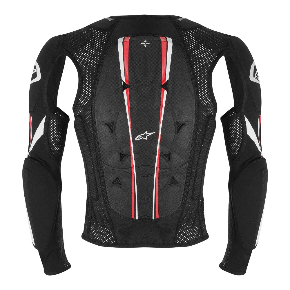 0 Colete/Jaqueta Alpinestars Bionic Pro - Preto/Vermelho/Branco (Protetor)  - Super Bike - Loja Oficial Alpinestars