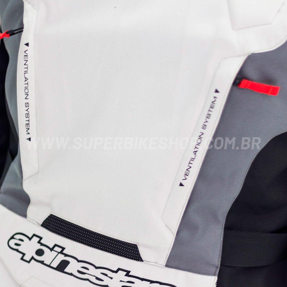Jaqueta Alpinestars Andes V2 Drystar® Cinza/Preto Impermeável  - Com Vídeo para Big Trail  - Super Bike - Loja Oficial Alpinestars