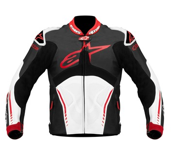 Jaqueta Alpinestars Atem Couro (White/Red/Black)  Outlet Semana do Consumidor!  - Super Bike - Loja Oficial Alpinestars