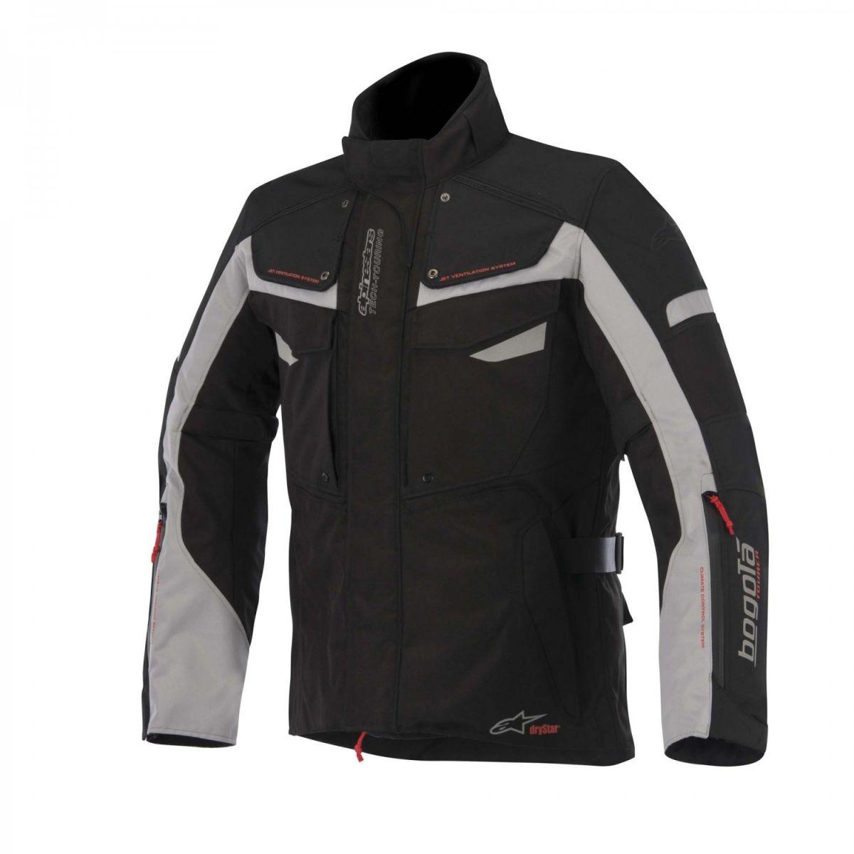 Jaqueta Alpinestars Bogotá Drystar® WP Preta e Cinza (COMPRE JUNTO!) para Big Trail  - Super Bike - Loja Oficial Alpinestars