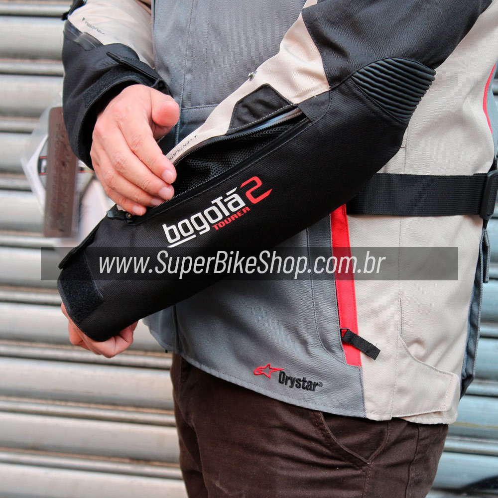 Jaqueta Alpinestars Bogotá V2 Drystar® Cinza/Areia/Preto Impermeável para Big Trail  - Super Bike - Loja Oficial Alpinestars