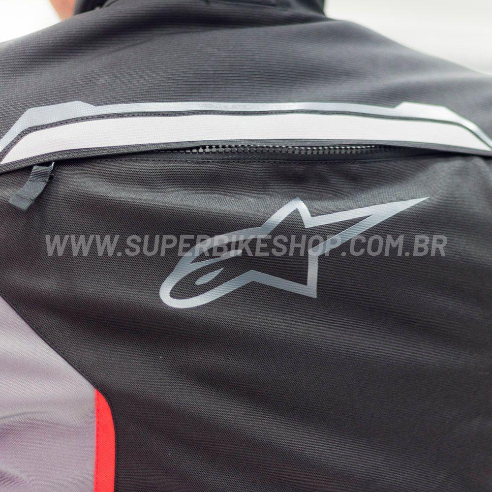 Jaqueta Alpinestars Bogotá V2 Drystar® (Preto/Cinza) /impermeável para Big Trail  - Super Bike - Loja Oficial Alpinestars