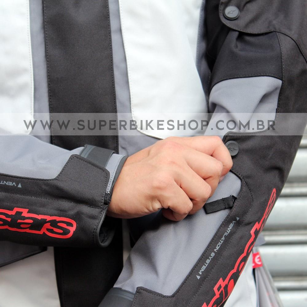 Jaqueta Alpinestars Mirage Drystar® Cinza - 100% IMPERMEÁVEL - Blackfriday  - Super Bike - Loja Oficial Alpinestars