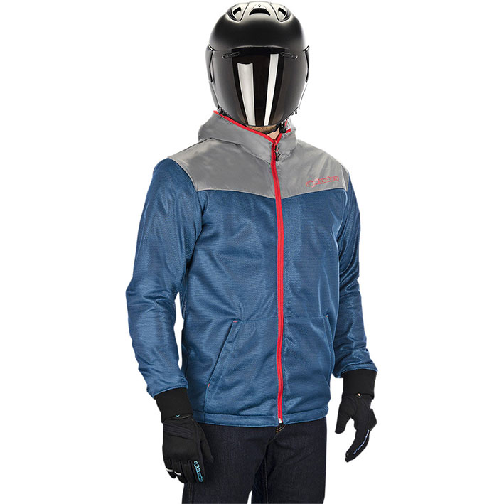 Jaqueta Alpinestars Runner Air Moroccan Blue Poppy Red (Ventilada)  - Super Bike - Loja Oficial Alpinestars