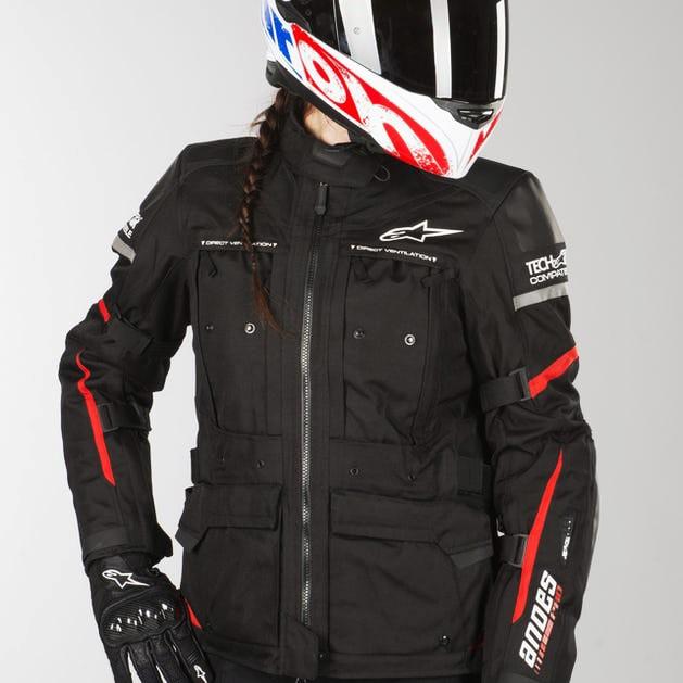 Jaqueta Alpinestars Stella Andes Pro Drystar® Air Tech Compatible - Preto/Vermelho - Impermeável  - Super Bike - Loja Oficial Alpinestars
