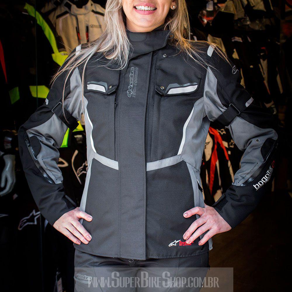 Jaqueta Alpinestars Stella Bogotá V2 Drystar® WP Preta Cinza/ Feminina para Big Trail  - Super Bike - Loja Oficial Alpinestars