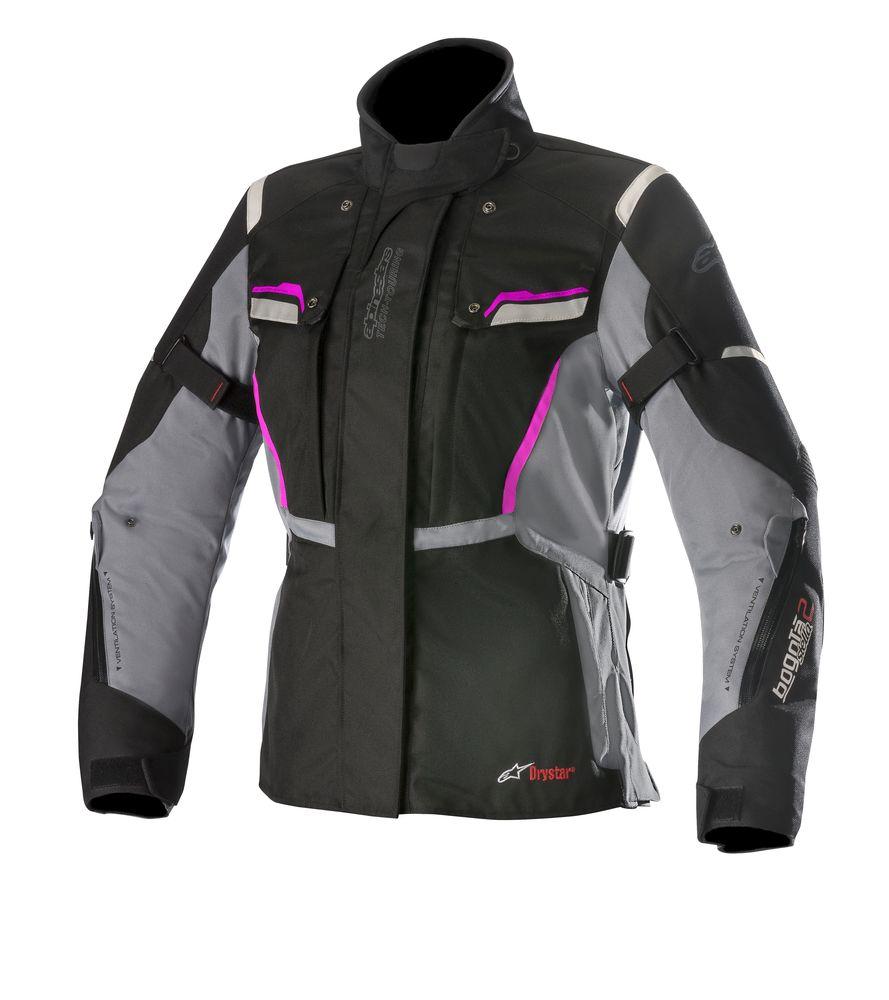 Jaqueta Alpinestars Stella Bogotá V2 Drystar® WP Preta Cinza Fuchsia/ Feminina para Big Trail  - Super Bike - Loja Oficial Alpinestars