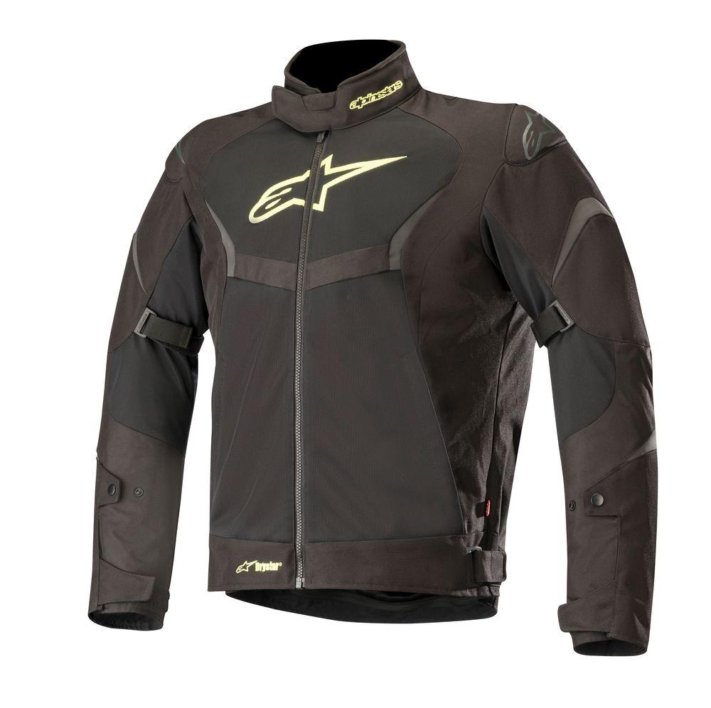 Jaqueta Alpinestars T-Core Air Preto/Amarelo Fluo Drystar (mais Ventilada)  - Super Bike - Loja Oficial Alpinestars