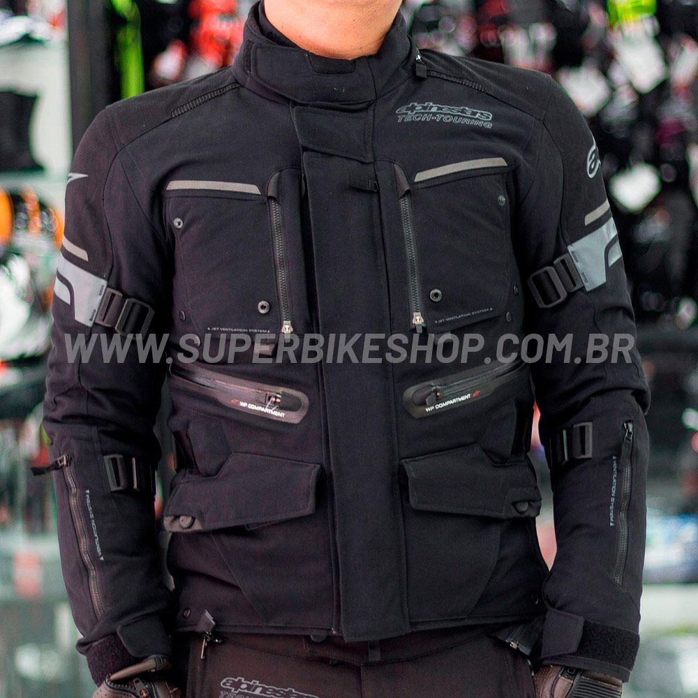 Jaqueta Alpinestars Valparaíso 2 Drystar® WP Preta para Big Trail  - Super Bike - Loja Oficial Alpinestars