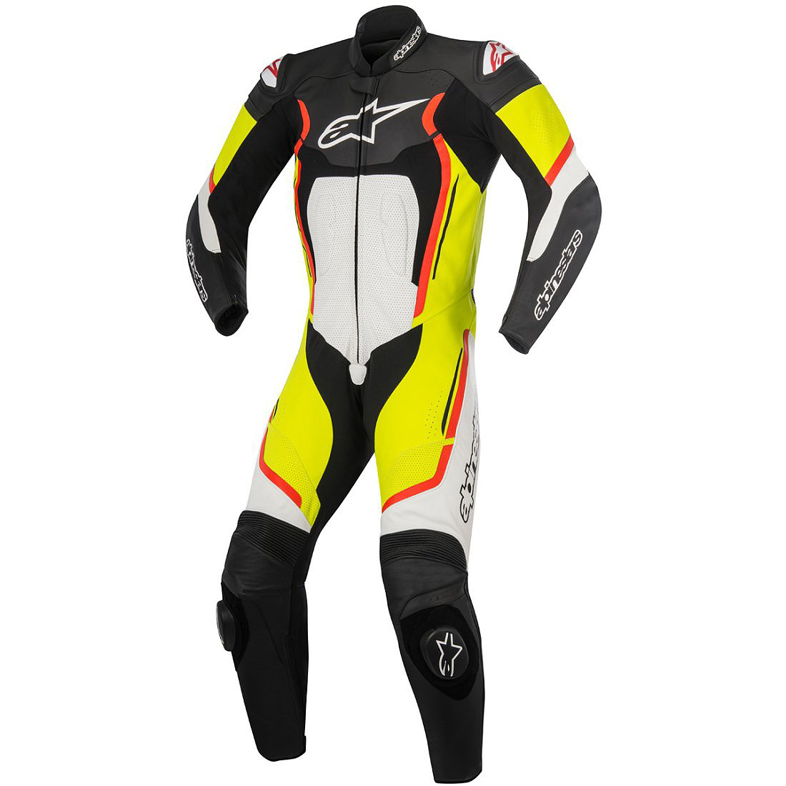 0 Macacão Alpinestars Motegi V2 - 1 Peça - Black / Yellow / Red - NOVO!  - Super Bike - Loja Oficial Alpinestars