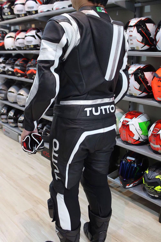Macacão Tutto Moto Racing - Preto/Branco - 2 Peças  - Super Bike - Loja Oficial Alpinestars