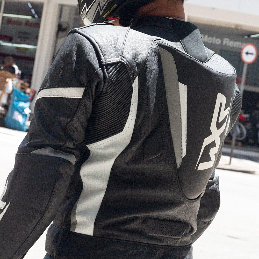 Macacão WXR - Preto/Branco - 2 Peças  - Super Bike - Loja Oficial Alpinestars