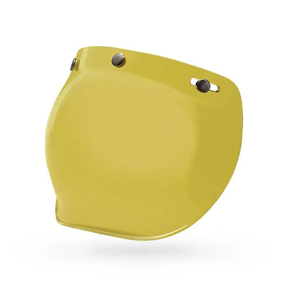 Viseira Bell Bubble Amarela para capacetes Custom 500