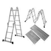 Escada Multifuncional 4x3 com plataforma - 12 degraus MOR