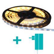 Fita de LED 2m 9.6w 3000K + Fonte 1a - Cristallux