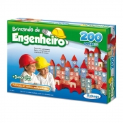 2 unidades Brincando de engenheiros 200 peças Xalingo
