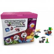 Blocos de Encaixe Criativos Animais com 350 peças - Xalingo