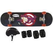Kit Skate Row Infantil Sapo com Acessórios - 79x20 - MOR