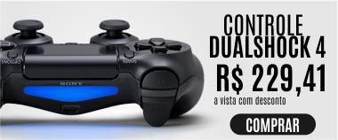 Controle Dualshock 4 (Preto) - PS4