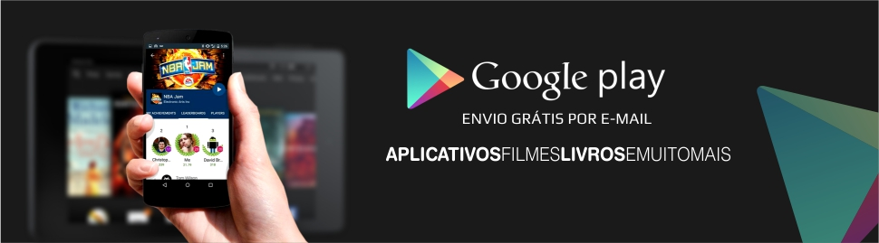 Cartões Google Play - Enviamos em até 24 horas por e-mail.*