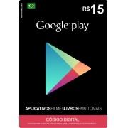 Cartão Google Play Brasil R$15