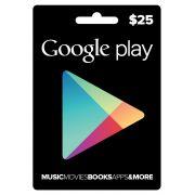 Cartão Google Play $25