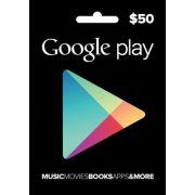 Cartão Google Play $50