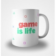 Caneca Game is Life (Branca)