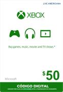 Cartão XBOX Live $50 (Live Americana)