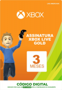 Xbox Live 3 Meses Gold Card (Live Americana)