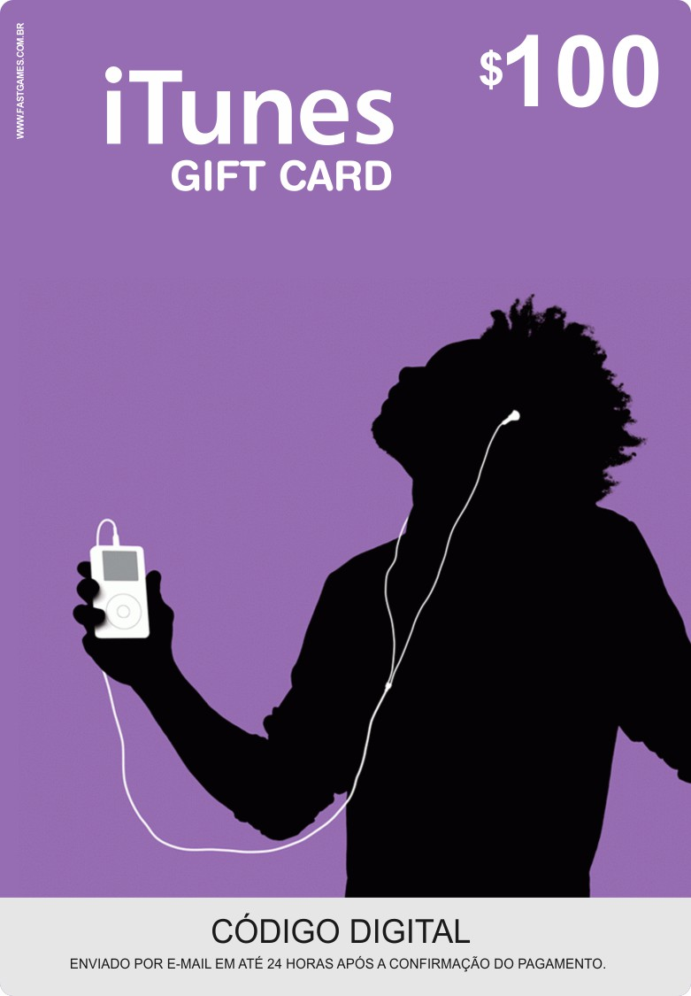 Cartão Itunes $100 Gift Card  - FastGames