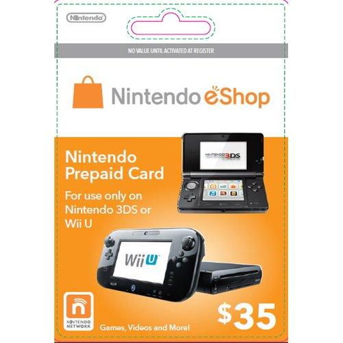 Cartão Nintendo Wii U / 3DS eShop Cash $35
