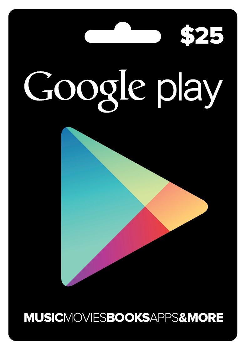 Cartão Google Play $25  - FastGames