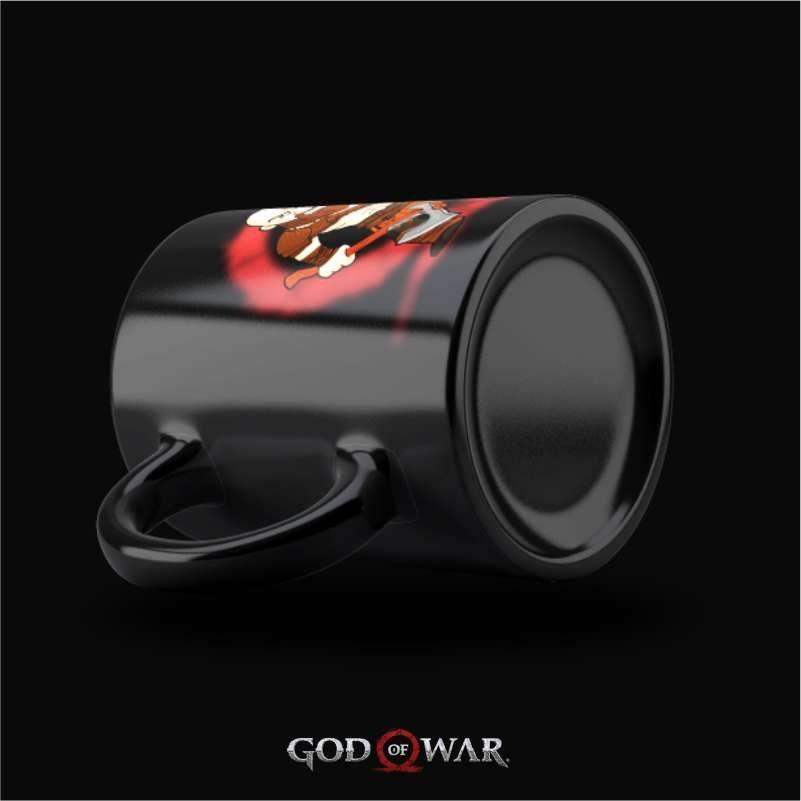 Caneca Kratos - God of War (Preta)  - FastGames