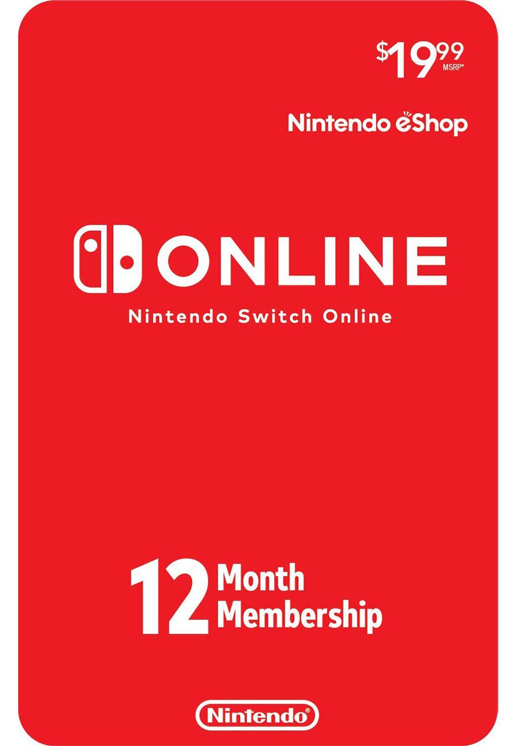 Cartão Nintendo Switch Online 12 Meses (eShop Americana)
