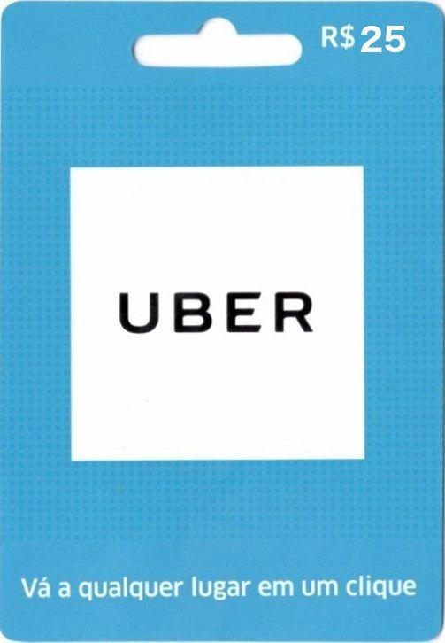 Cartão Pré-pago Uber R$ 25
