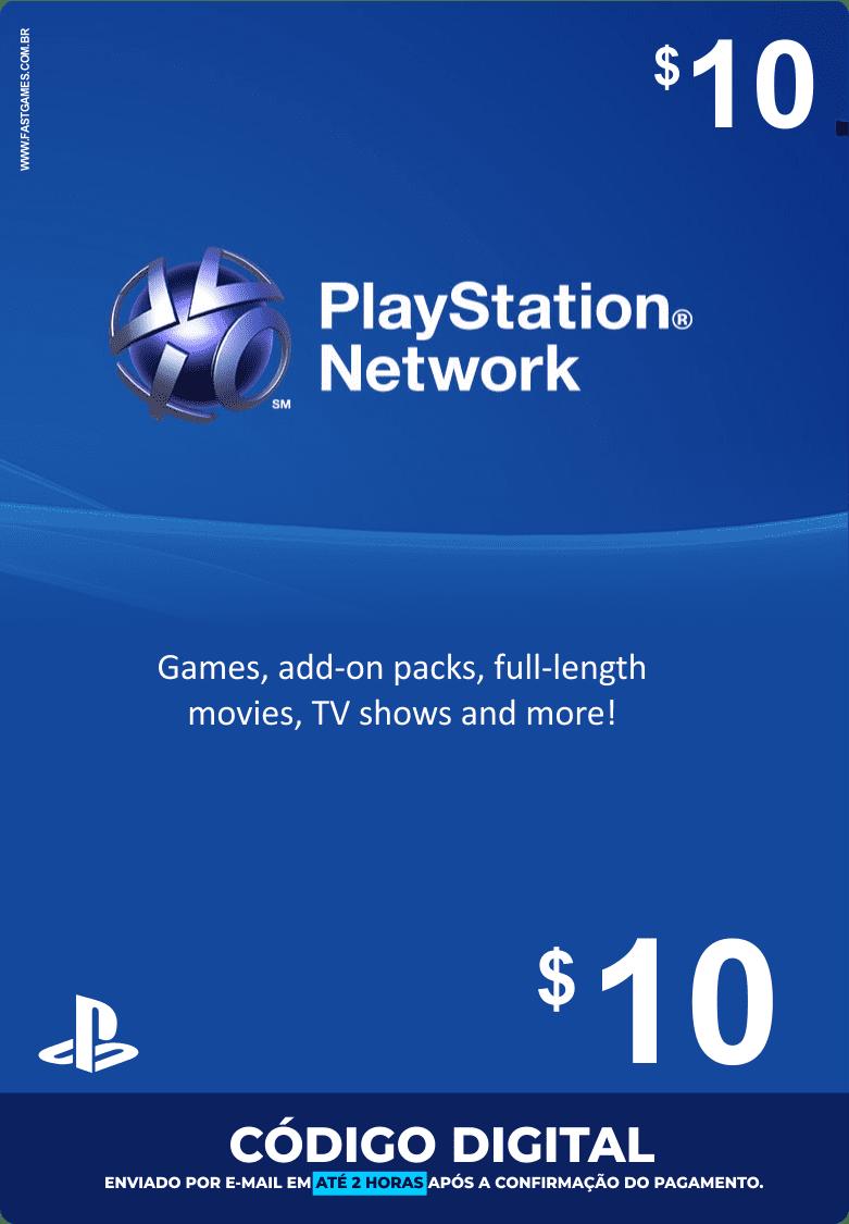 Cartão PSN $10