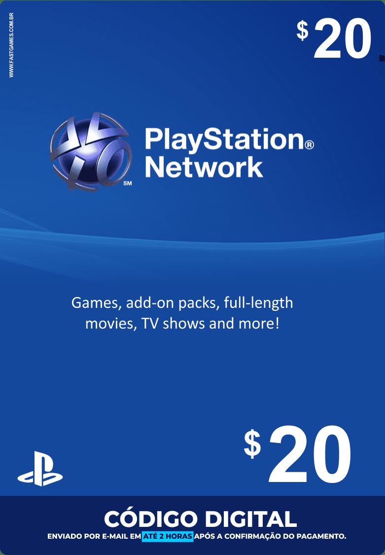 Cartão PSN $20