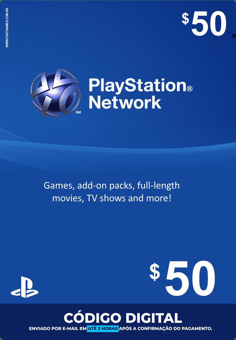 Cartão PSN $50