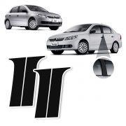 Adesivo BlackOut Coluna Volkswagen Voyage Gol G5 G6 Preto Fosco 4 Portas