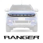Adesivo Grade Frontal Resinado Preto Ford Nova Ranger 2013 Em Diante